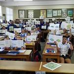Vredenburg learners reading Kropz brochures