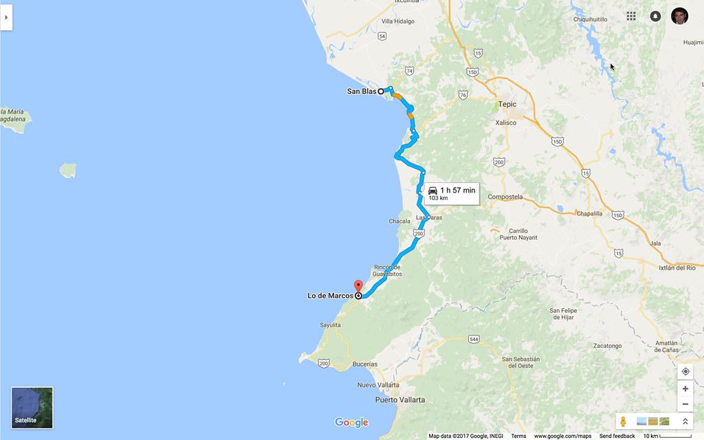 San Blas to Lo de Marcos