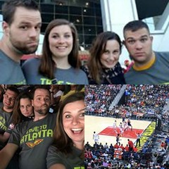 We enjoyed a Hawks game recently. Who do you think will win the playoffs? #tbt #basketball #atlanta