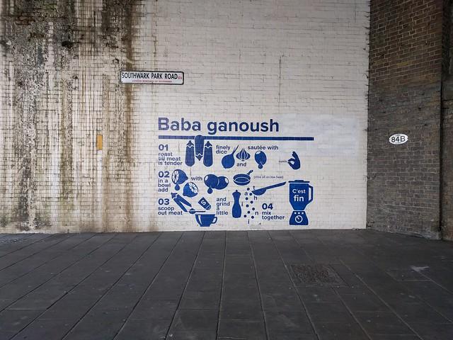 Baba ganoush stencil in Bermondsey