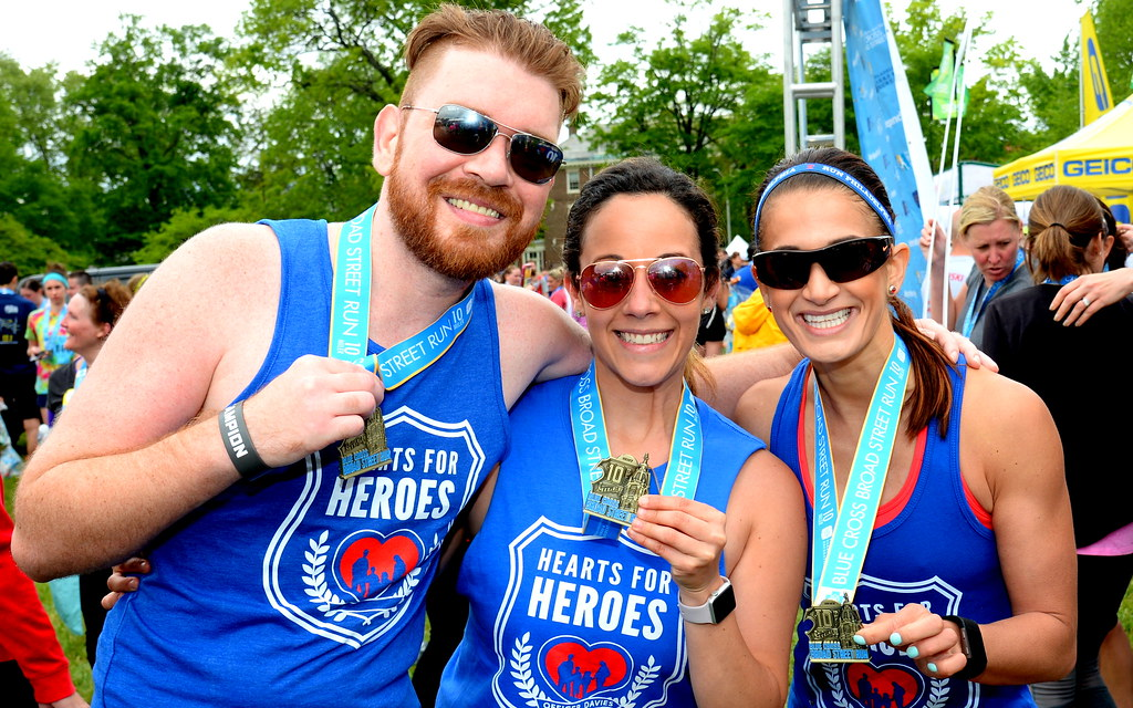 The Barkann Foundation's Hearts for Heroes Broad Street Team Runs in Support of The White Family!