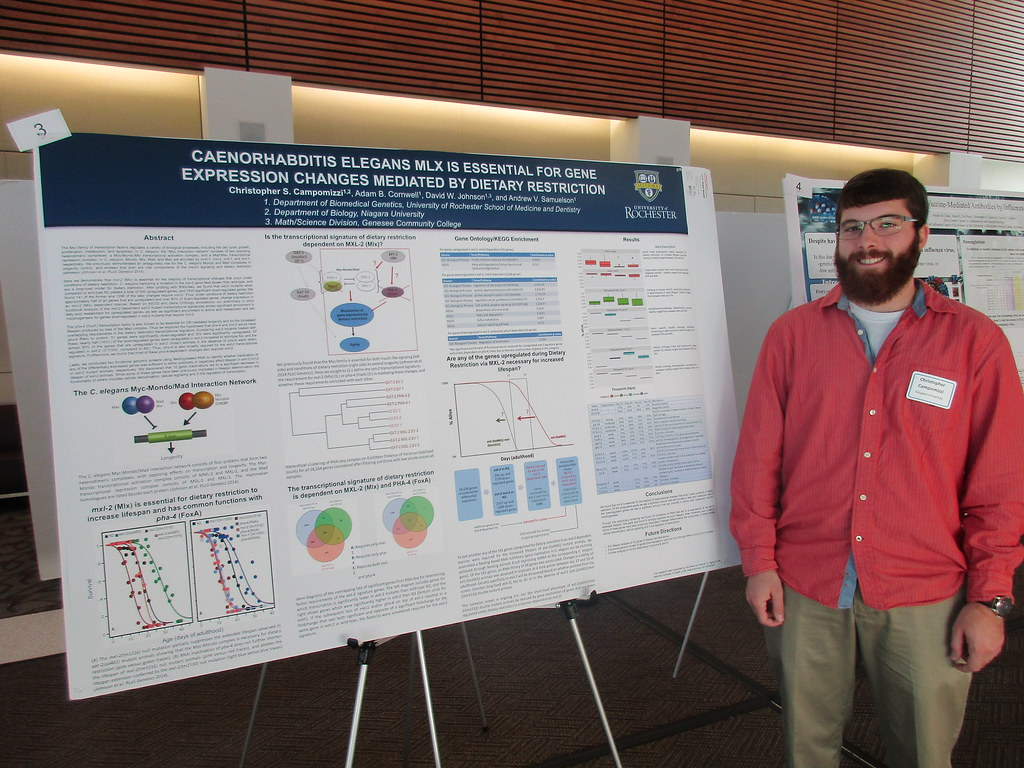Christopher Campomizzi with Poster