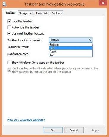 Hướng dẫn thay đổi vị trí thanh Taskbar trên Windows - Đổi vị trí thanh Taskbar trên Windows