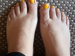 Toes done too and did a facial too. I am all dolled up ready for tomorrow Monday.