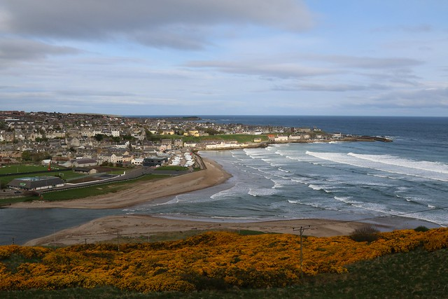 23rd April 2017. Banff from the Hill of Doune near Macduff, Banffshire, Scotland.