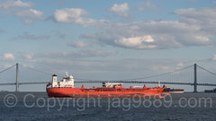 Harbour Fountain Tanker at the Verrazano-Narrows Bridge, New York City