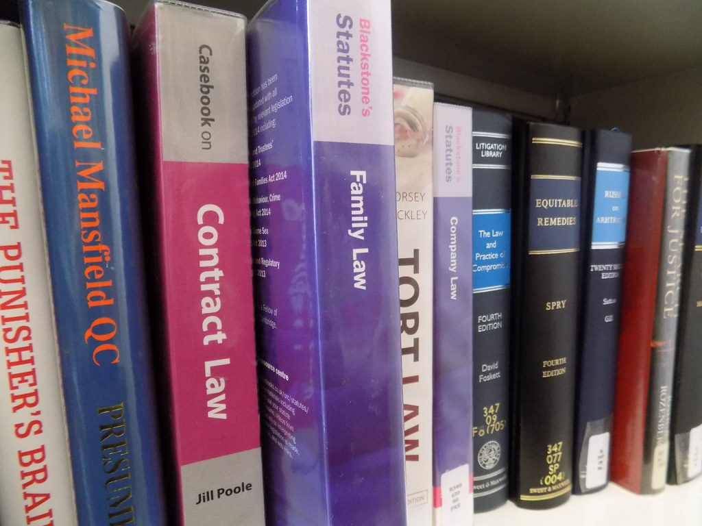 A Family Law Book Amongst Other Legal Books, Manchester Central Library