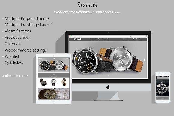 Sossus v1.0.0 - Blog and Shop Theme