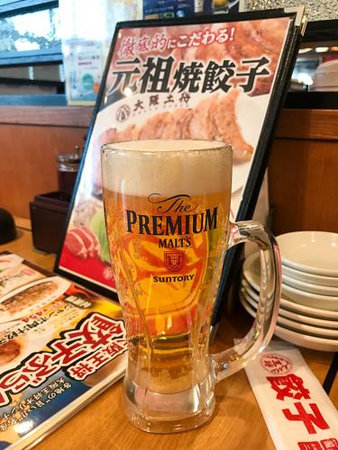 3日間、おつかれさまでしたー。完歩〜い。 — Drinking a The Premium Malt's (@ 大阪王将 知立店 in 知立市, 愛知県)