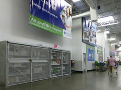 Sam's Club S'haven: offices and/or associate break room area, looking down toward the café
