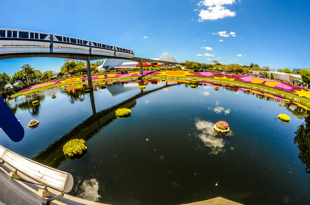 Flower beds monorail