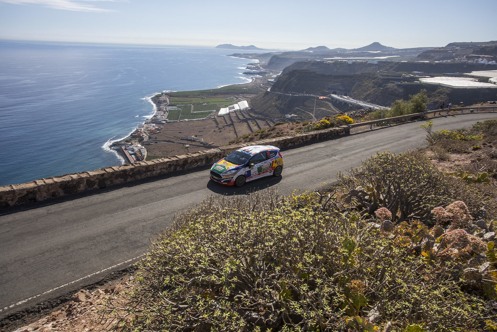 31 BANAZ Bugra (TUR), ERDENER Burak (TUR), Ford Fiesta R2, Action during the 2017 European Rally Championship ERC Rally Islas Canarias, El Corte Inglés,  from May 4 to 6, at Las Palmas, Spain - Photo Gregory Lenormand / DPPI