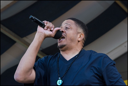 Chali 2na at Jazz Fest Day 5 on May 5, 2017. Photo by Ryan Hodgson-Rigsbee www.rhrphoto.com