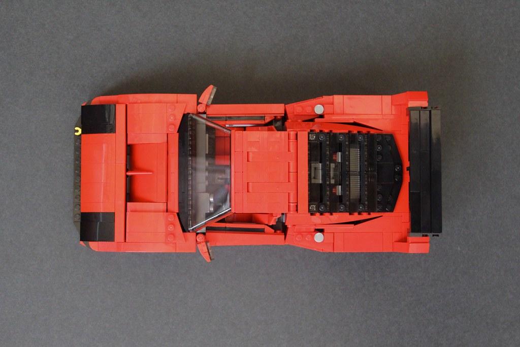 Ferrari F40 LM Super-mod: The dry fit.
