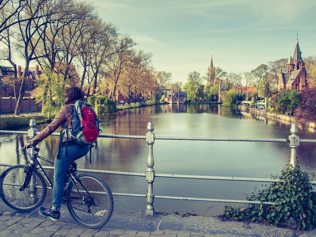 Vistas de Brujas. #brugge #bruges #bike #belgium #travelphoto #photography #olympus