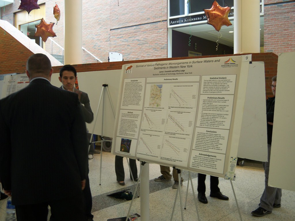 Lorne Farowich with poster