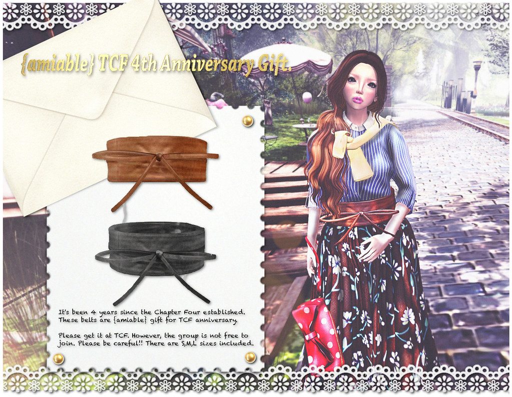 {amiable} TCF 4th Anniversary Limited Gift Belt@TCF. - SecondLifeHub.com