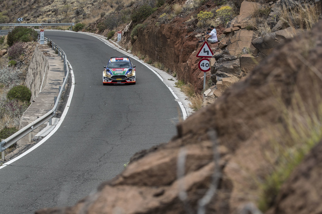 14 BOSTANCI Murat (TUR), VATANSEVER Onur (TUR), Ford Fiesta R5 Action during the 2017 European Rally Championship ERC Rally Islas Canarias, El Corte Inglés,  from May 4 to 6, at Las Palmas, Spain - Photo Gregory Lenormand / DPPI