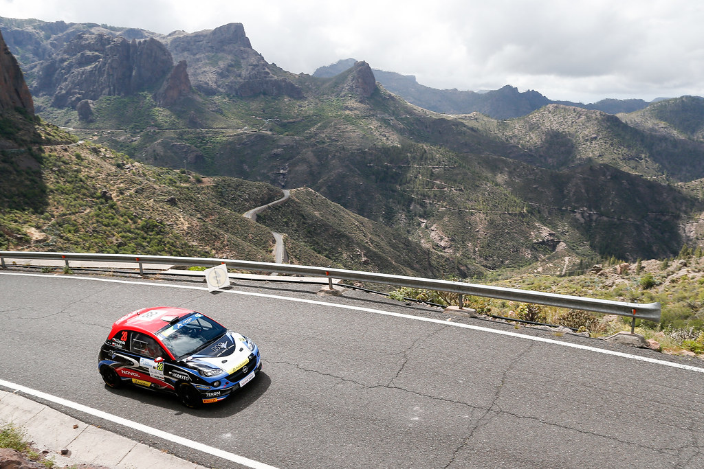 28 ZAWADA Alexander (POL), DACHOWSKI Grzegorz (POL), Opel Adam R2, Action during the 2017 European Rally Championship ERC Rally Islas Canarias, El Corte Inglés,  from May 4 to 6, at Las Palmas, Spain - Photo Alexandre Guillaumot / DPPI