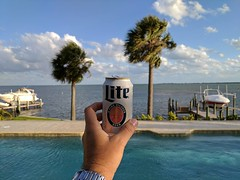 Beautiful night for #BeerFriday! #itsmillertime