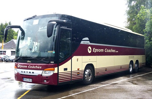BX63 BCE 'Epsom Coaches' SETRA S416GT-HD on 'Dennis Basford's railsroadsrunways.blogspot.co.uk'