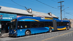 MTA SBS (Select Bus Service) Articulated Bus, Far Rockaway, Queens, New York City