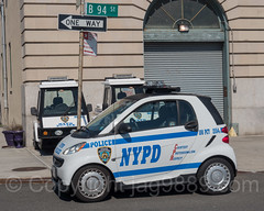 NYPD Precinct 100 Smart ForTwo Police Car, Seaside, Queens, New York City