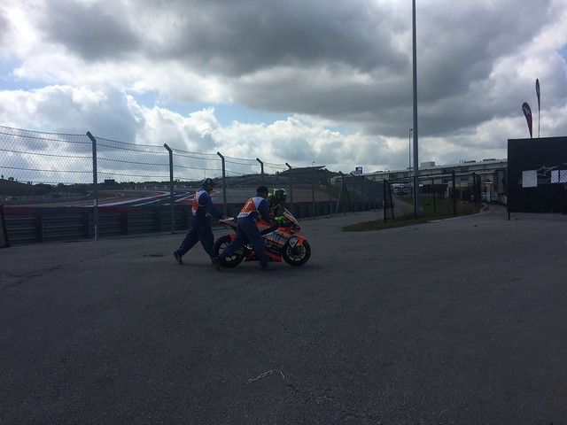 Loris Baz heads off track