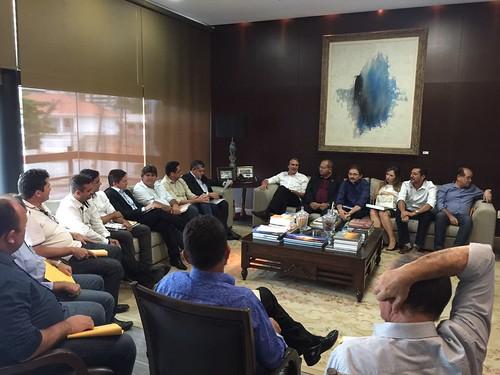 Reunião com governador Camilo Santana e prefeitos