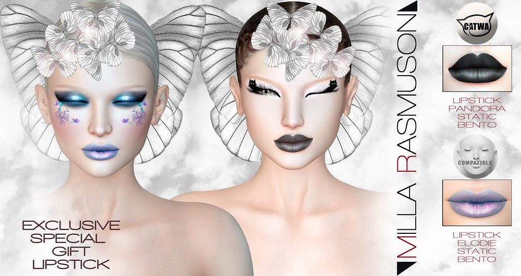 "EXCLUSIVE LIPSTICK GIFT""ELOIDE"" FOR LELUTKA ""PANDORA FOR CATWA EXCLUSIVE FOR EVENT""THE GRAB EVENT"" - SecondLifeHub.com"