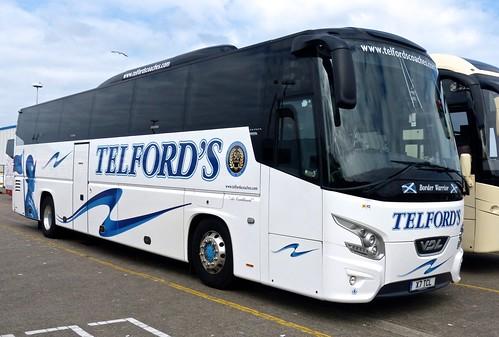 X7 TCL 'Telford's Coaches' VDL  / BOVA Futura on 'Dennis Basford's railsroadsrunways.blogspot.co.uk'