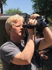 Paul Jolly in California with FLIR camera