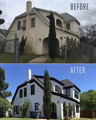 For today's #TBT I thought I'd show a little #beforeandafter of the #house. Original photo taken about a year ago. #rockwood #renovation #remodel #oakcliff #dallas #home #thisoldhouse