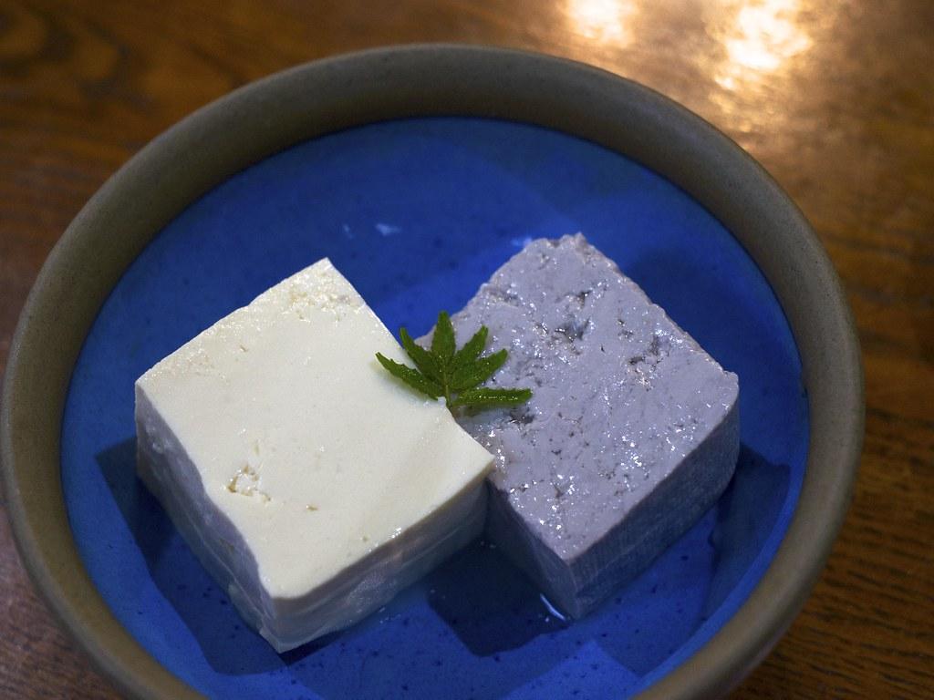 Japanese tofu / 豆腐2種 / のんび荘 (長野県飯田市)