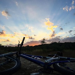Evening mountain bike ride.