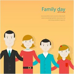 free vector Happy Family Day background