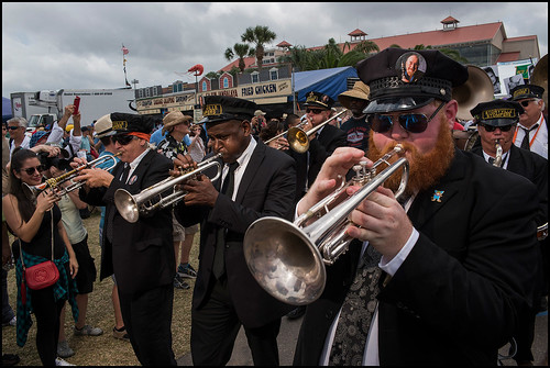 Pete Fountain memorial second line during Jazz Fest day 2 on April 29, 2017. Photo by Ryan Hodgson-Rigsbee www.rhrphoto.com