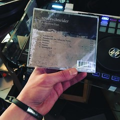 my first #album now on #CD - #spaceschneider #robothimdub _ #rogalistrecords 2017 / #backside