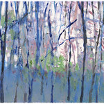 Ken Elliott; Into the Woods; Monotype with chine-colle; 2004 -