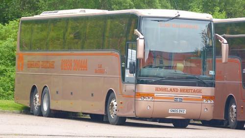 SN05 DVZ 'Highland Heritage' Volvo B12B / Van Hool Alize on 'Dennis Basford's railsroadsrunways.blogspot.co.uk'