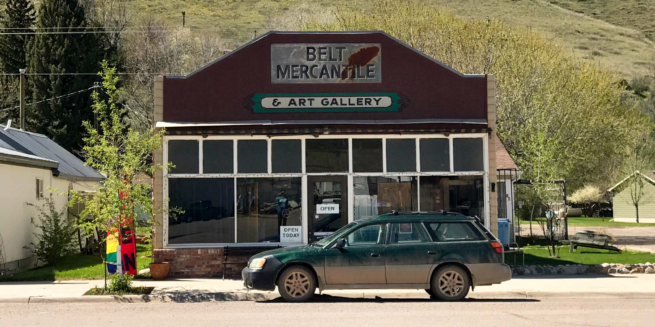 Belt Mercantile and Art Gallery is located in downtown Belt, Montana in Cascade County.