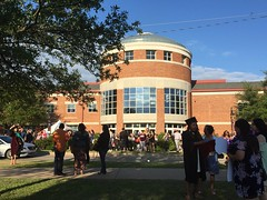 Graduation day on campus