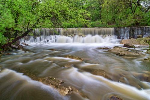 cascade bronxriver spillway dam lake river scenic longexposure water landscape