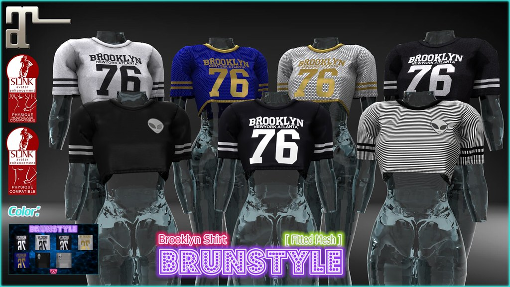 [Brunstyle] Brooklyn Shirt + HUD Textures (Fitted Mesh) - SecondLifeHub.com