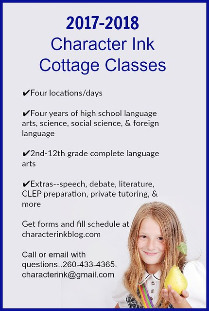 2017 Character Ink Cottage Classes