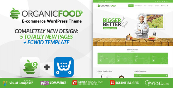 Organic Food WordPress Theme free download