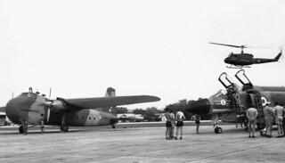 1975 RNZAF Bristol Freighter NZ5912, RAF F-4 Phantom and Iroquois NZ3807 at Tengah