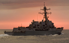 In this file photo, USS Dewey (DDG 105) transits the South China Sea in May. (U.S. Navy/MC1 Byron C. Linder)