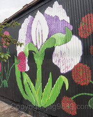 Flowers Mural (2016) by Mona Oman, Gerardi's Farmers Market, Staten Island, New York City