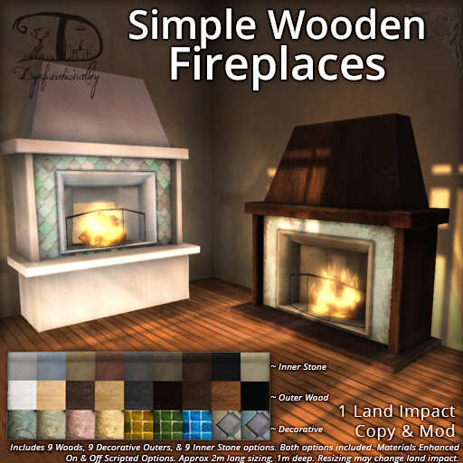 Simple Wooden Fireplaces - TeleportHub.com Live!